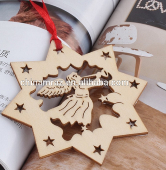 30 years Factory laser cut wood christmas ornament patterns