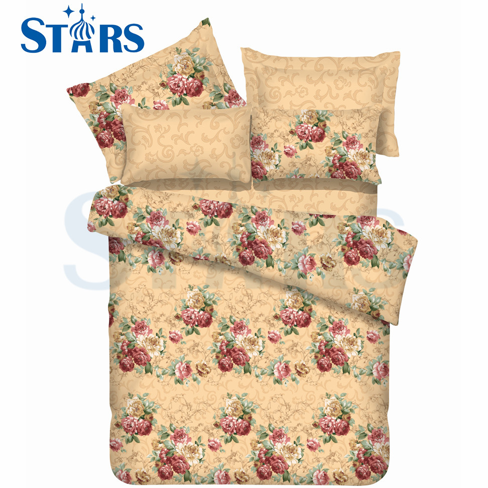 GS-FM3DRD-09 China Manufacturers Cheap Sweet 3d bedsheets 100% polyester fabric