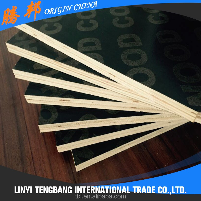 film faced plywood melamine WBP glue poplar core harwood core shuttering plywood