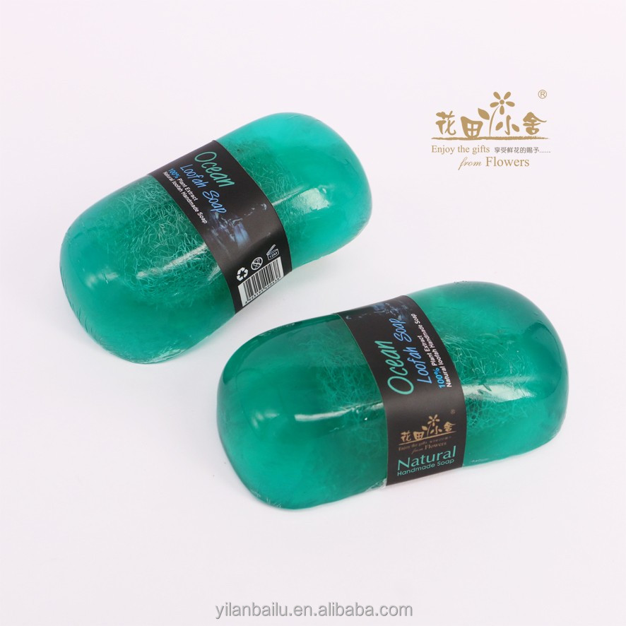 Ocean scented loofah soap made in thailand products