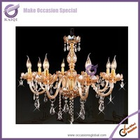 k5641 wedding decor elegant Crystorama Lighting Group Traditional Polished Brass six-Light Spectra Crystal Chandelier