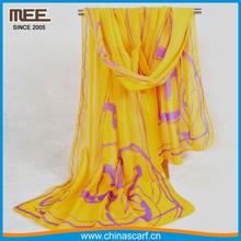 2017 new style super light-minded Beautiful line silk felling brand scarf
