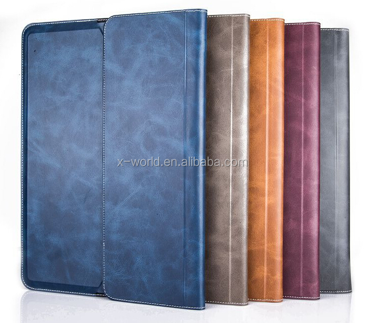 Flexible synthetic PU leather case for ipad, synthetic leather case
