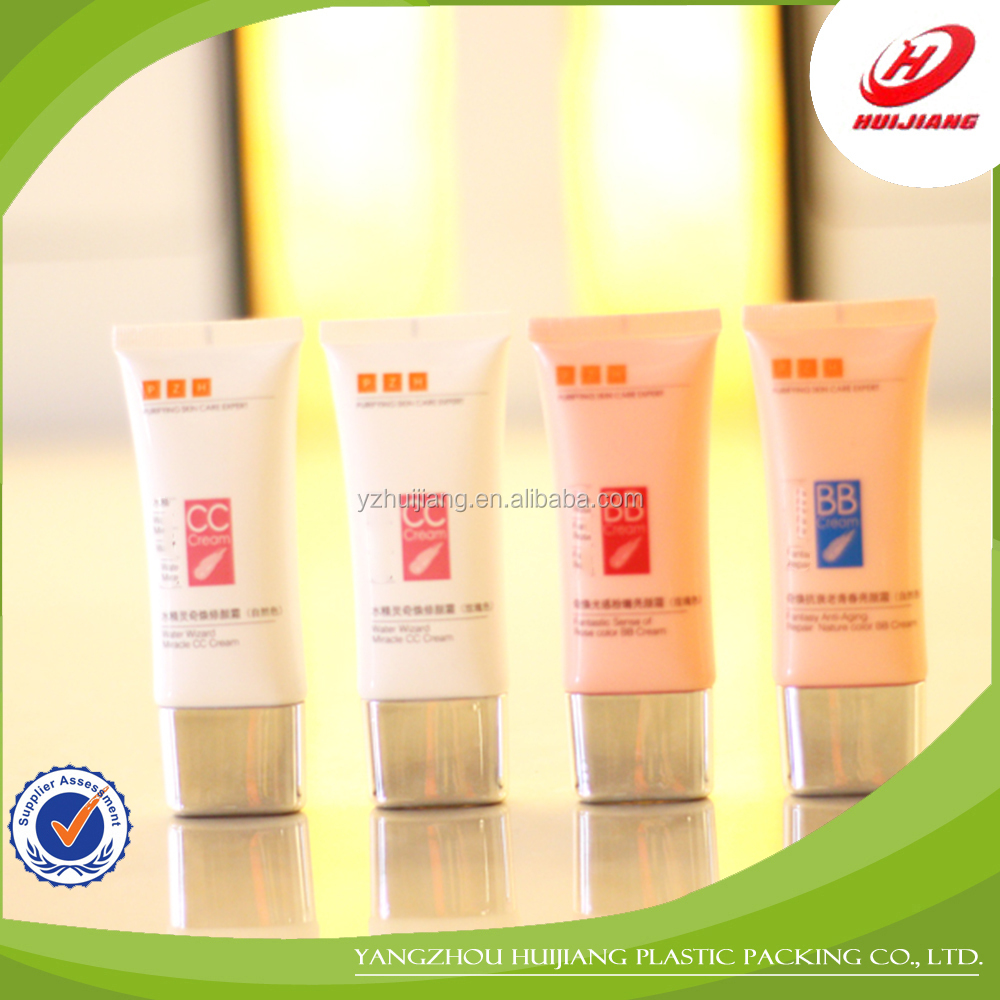 Hiway China Supplier Cosmetic Container Plastic Tube With Metal Screw Cap