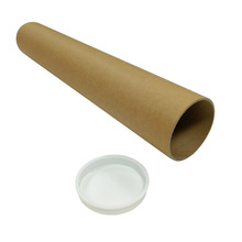 Custom Printed Paper Cardboard Round Tube With Plastic Ends