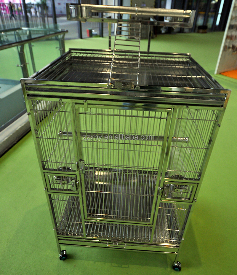 Parrot House ,Pet House/Cage Large Sainless Steel Macaw Amazon African Grey Cages