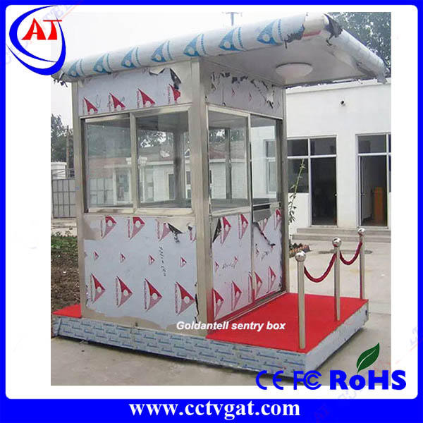 With LED lamp, power switch, 5-hole socket,working table prefab security guard house / booth