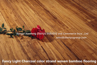 Fancy Antique light charcoal color strand woven bamboo flooring
