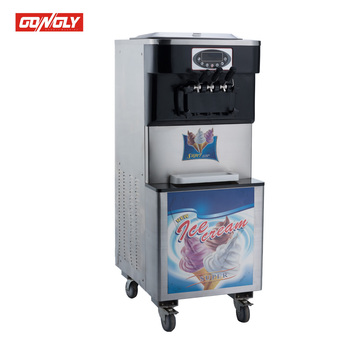 three nozzle ice cream machine