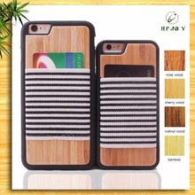 Wholesale Real wood case for iPhone 6, for iPhone6 wood case TPU With Card Slot