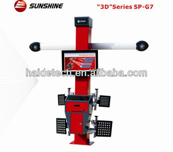 "manufacture & export ""Sunshine"" car wheel aligner SP-G7 with CE&ISO"