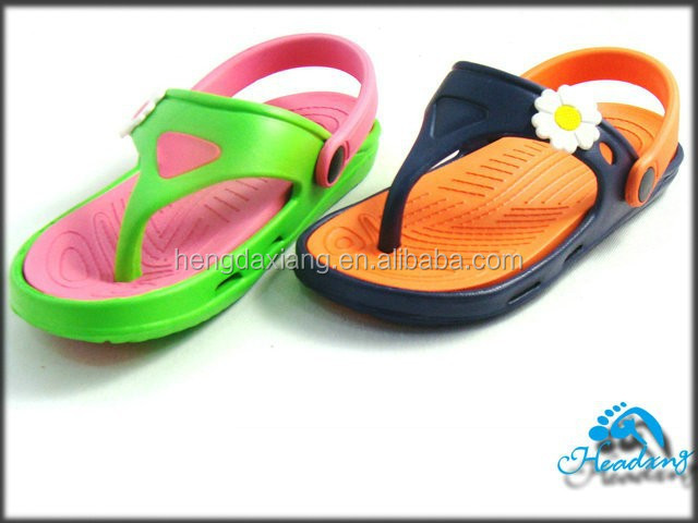 Flower decoration EVA injection clogs slippers