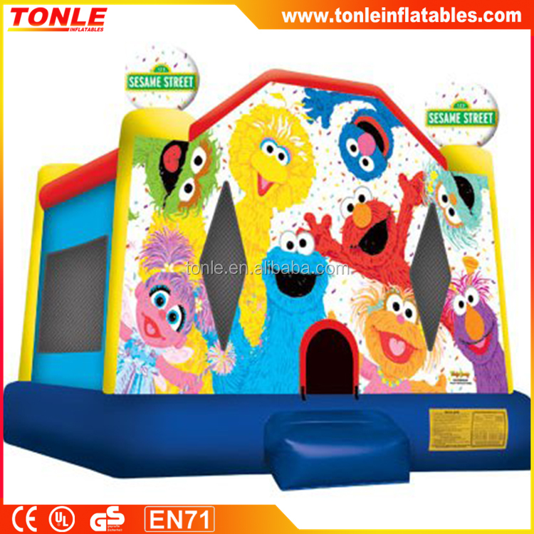 Sesame Street 2 inflatable Bounce House, inflatable moonwalk, inflatable jumping castle