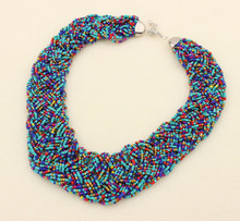 The newest seed beads crystal necklace, bead necklace designs