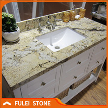 Polished Golden Persa granite cut-to-size countertop vanity tops