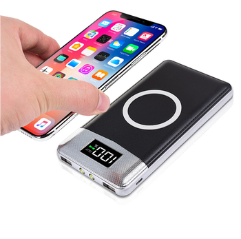 Mobile Battery Pack qi wireless charger 10000mah power bank supply type C Wireless Charging Power Bank