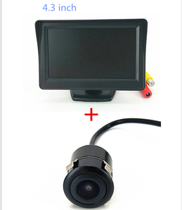 4.3inch TFT LCd car monitor 2 channels rear view monitor with Universal car camera