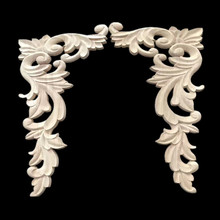 Wooden decorative onlays and appliques for cabinet