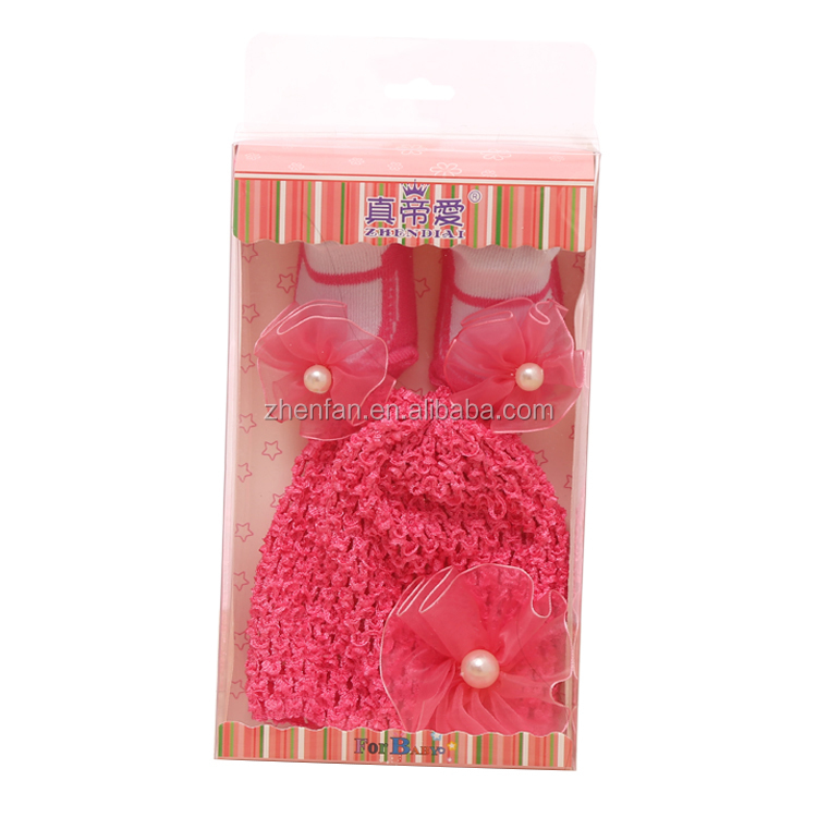 newborn baby gift knit hat and socks set wholesale