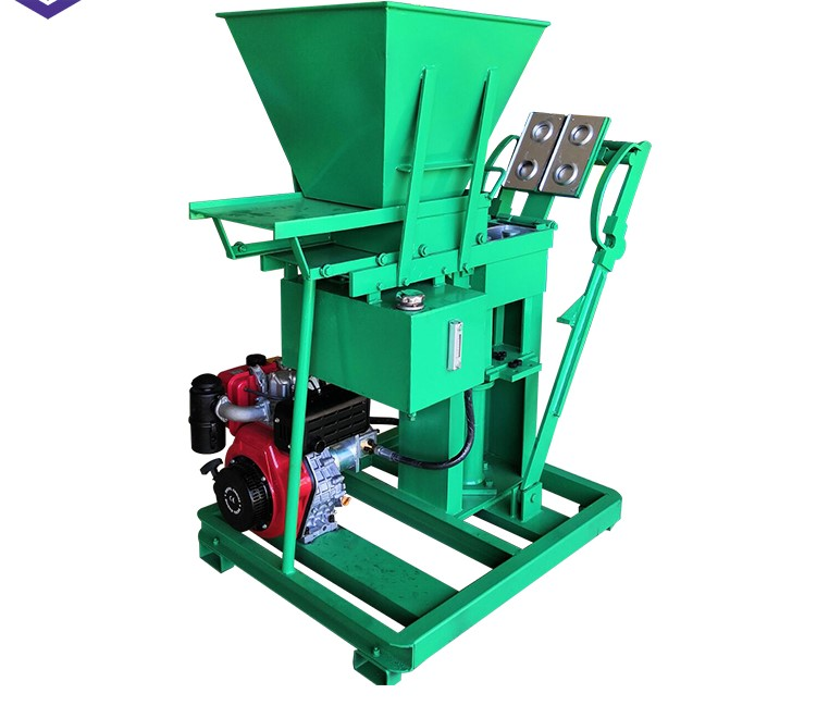 Hydraulic Press Makiga Eco Brava 2-25 Clay Stabilized Soil Earth Interlocking Block Brick Making Machine Price For Sale China