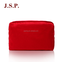 Polyester satin girls cosmetic clutch bag