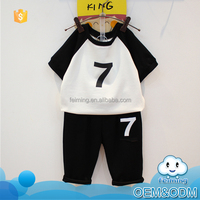 Baby stocks clothing suppliers for boutiques baby clothes 100% cotton baby gift seven children clothing set