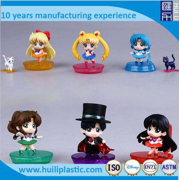 cartoon pvc anime figures, custom pvc 3d model figures, make anime toy figures for collection