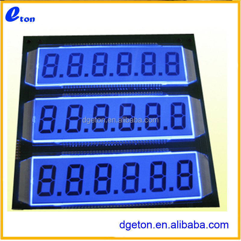 18digit LCD Fuel dispenser panel /custom LCD tanker panel /segment LCD for oiling machine