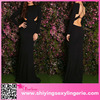 2016 New arrival Black Sexy Hollow-out Long Sleeves Party Prom Dress long frog dress