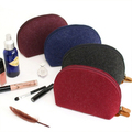 New felt cosmetic bag felt makeup case creative design vermilion hand bag