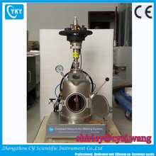 Ultra high vacuum inert argon gas water-cooling stainless steel vacuum chamber mini electric arc melting furnace
