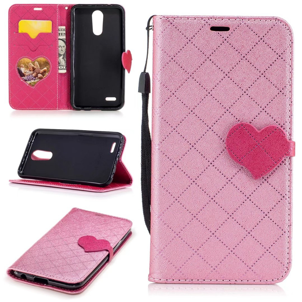 China phone case <strong>manufacturer</strong> leather leather PU+ TPU shockproof phone case for LG <strong>K10</strong> Wallet Style Flip Cover