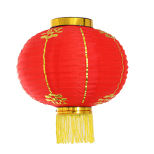 Nylon Fabric Traditional Chinese Red Lanterns