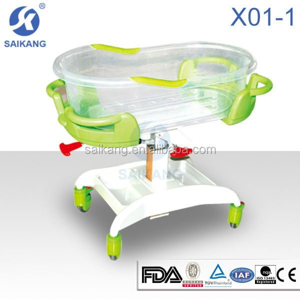 X01-1 hospital new born baby bed,automatic swing baby bed
