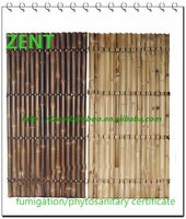 ZENT-75 eco-friendly natural black bamboo fence panels high quality bamboo fence