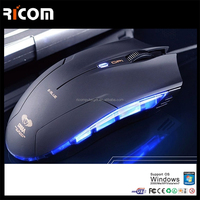 Hi-Quality Cool Optical 4D USB wired Gaming mouse black color for desktop,laptop