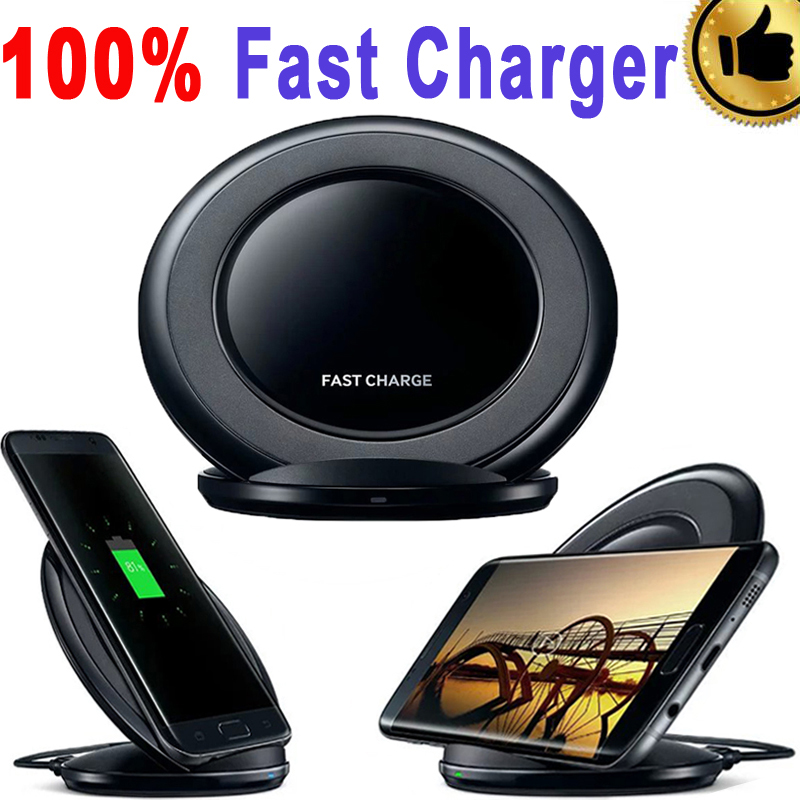 100% Genuine Qi Fast charger QI Wireless Charger S7 Pad Fast Charging Dock For Iphone7 6S 6 S6 edge