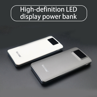 Shenzhen mobile power supply 5V 2.1A slim power bank 12000mah with LCD diaplay