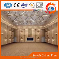 elegant modern hall waterproof material ceiling decoration pvc reinforced ceiling membrane