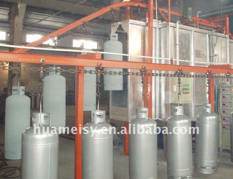 powder coating line for cylinders