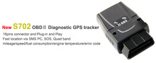 OBD gps dual tracked vehicle 99% Accuracy Fuel Management OBD II GPS Tracker SEEWORLD S702