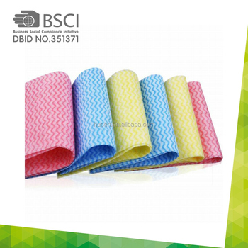 China Supplier OEM factory good quality nonwoven cloth use for kitchen clean wipes