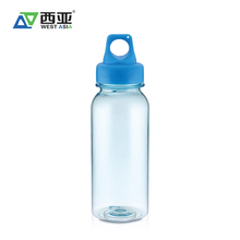China bpa free portable empty blue cycling running sport plastic water bottles 500ml for drink