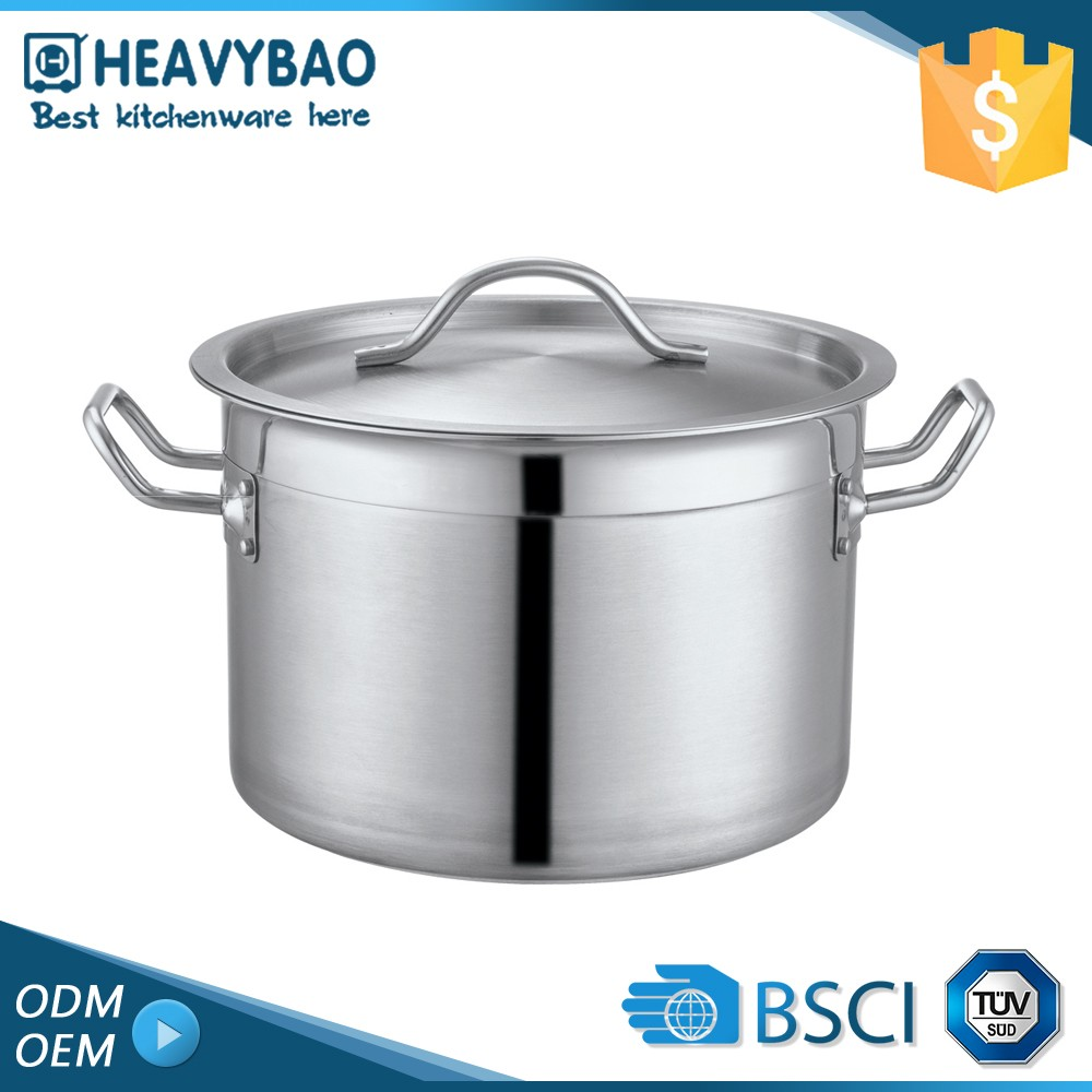 Highest Quality Kitchen Wares Stainless Steel Soup Low Pressure Cauldron Pot