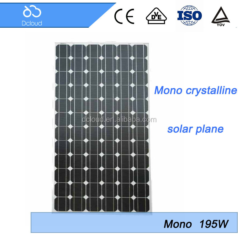 195w rooftop installation photovoltaic solar panel
