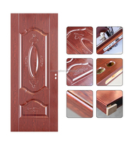 Finished surface classic interior solid steel wood Swing Panel door