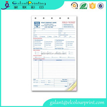 offset printing Preprinted Delivery Receipt Forms perforated edge