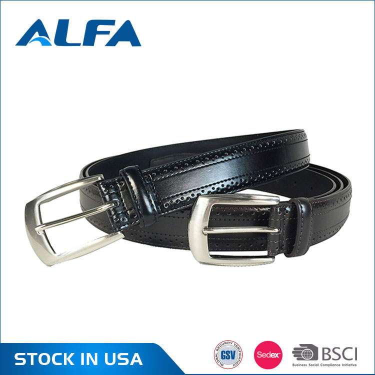 Alfa 2017 New Producte Custom Printed Split Leather Wrapped Belt For Men