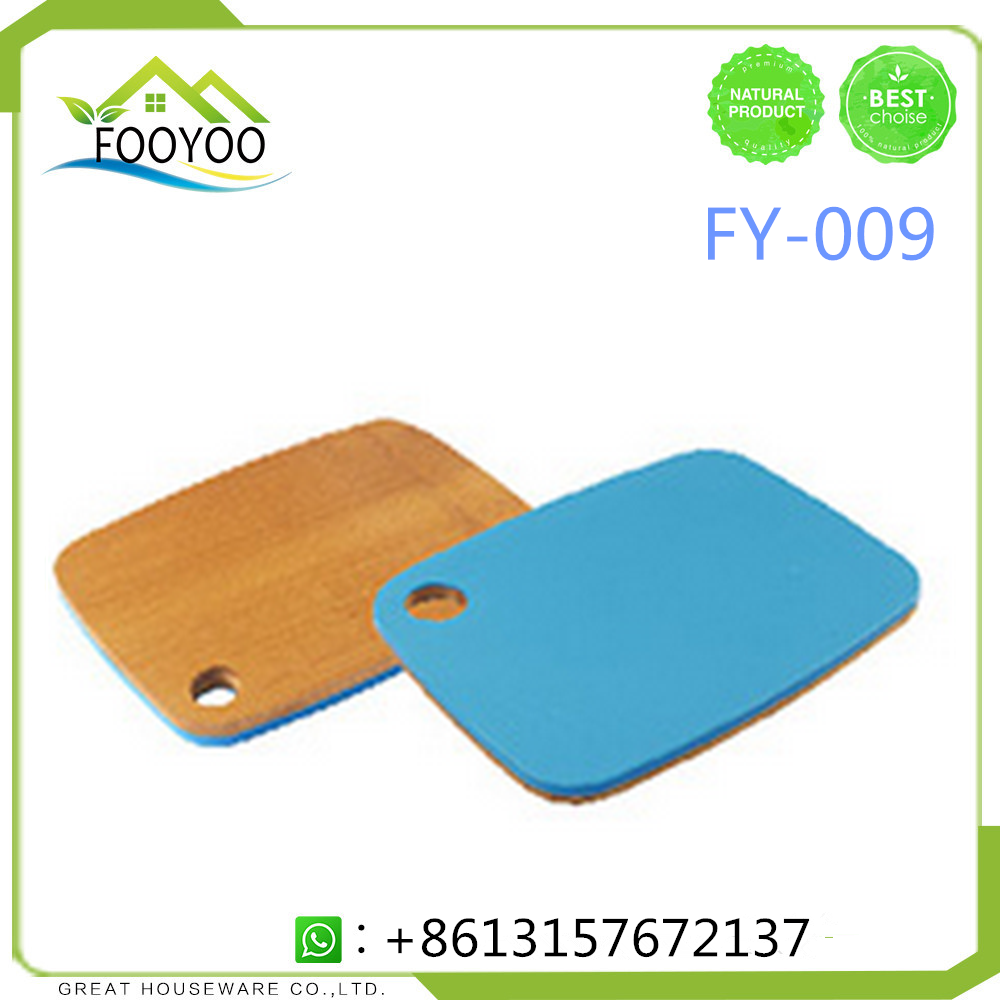 FY-009 cutting board plastic&bamboo double side eco-friendly chopping board