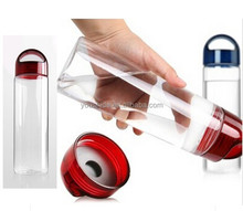 2017 year tritan material bpa free infuser fruit water bottles